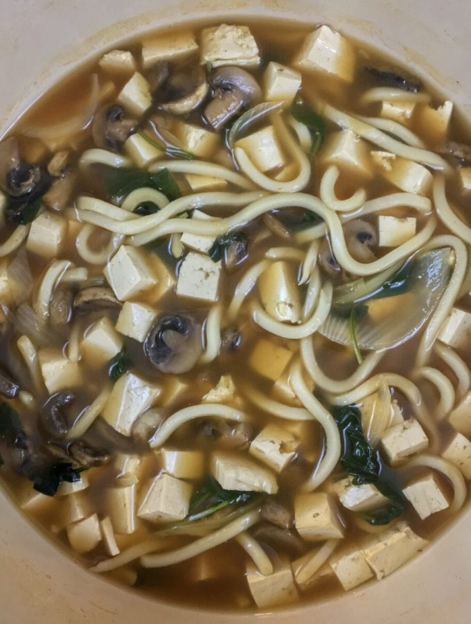 One Pot Veggie Udon Soup Recipe
