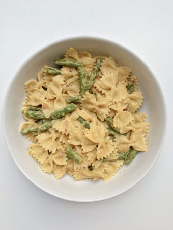 Asparagus and Sun Dried Tomato Hummus Pasta Recipe