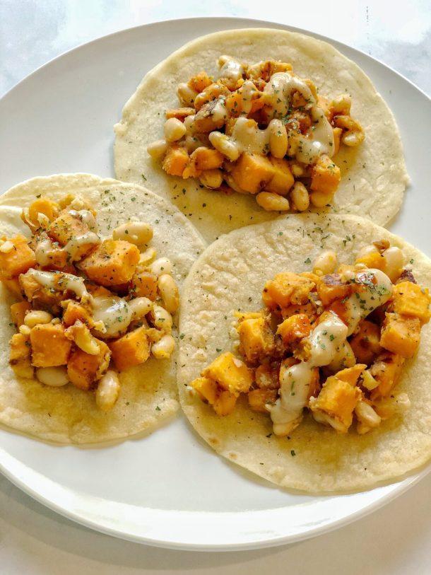 Sweet Potato and White Bean Tacos Recipe