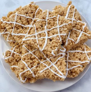 Homemade Vegan Pumpkin Spice Rice Krispies Treats