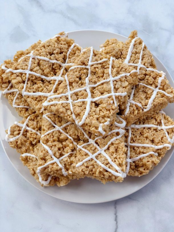 Homemade Vegan Pumpkin Spice Rice Krispies Treats