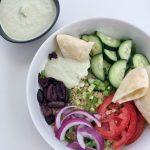 Mediterranean Quinoa Bowls with Cashew Tzatziki