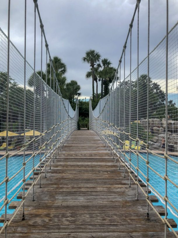Hyatt Regency Grand Cypress Pool Rope Bridge