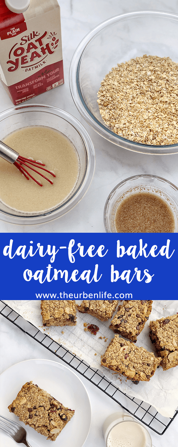 Dairy-Free Baked Oatmeal Bars are soft and chewy breakfast treats that double as the perfect mid-day snack