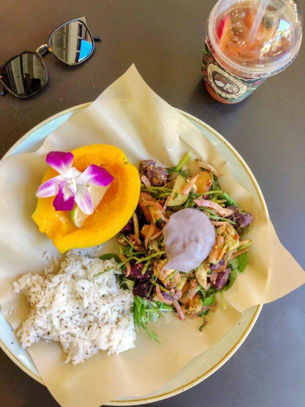 Vegan Poke Island Vintage Coffee Waikiki Hawaii