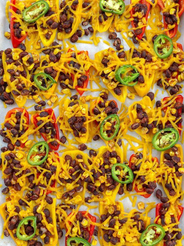 Vegan Dairy Free Gluten Free Mini Sweet Pepper Nachos