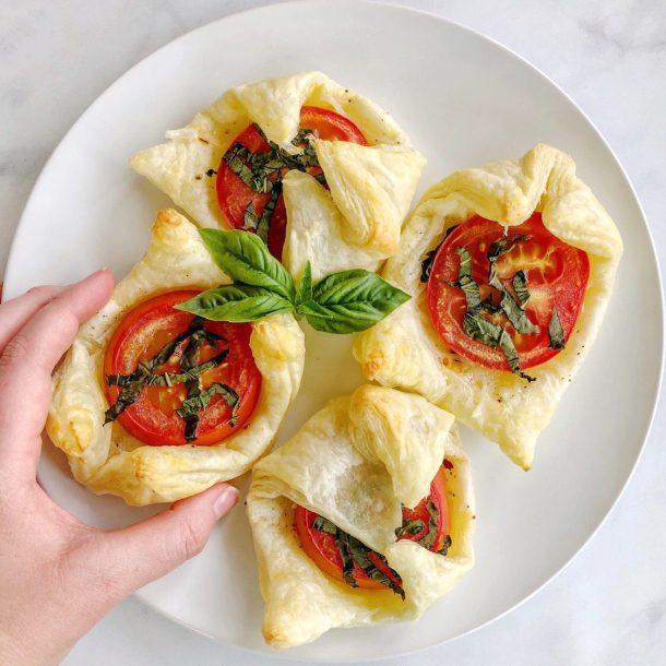 Vegan Tomato Basil Tartlets