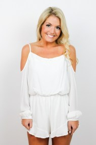 Very cute and trendy little white romper