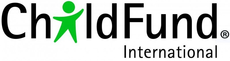 "Child Fund International logo; the ""i"" in child is replaced by a simple, green child shape"