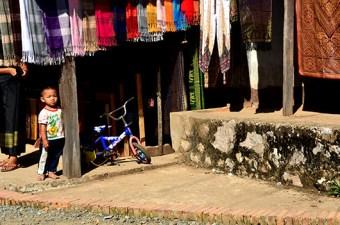Little boy at the weaving village