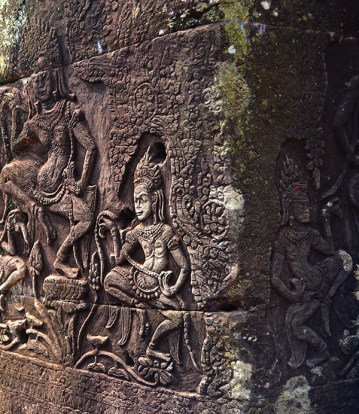 Apsaras in the Bayon temple - Siem Reap, Cambodia