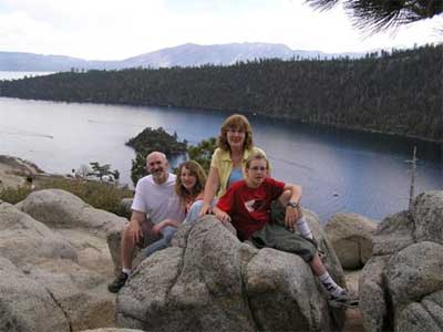 Duane, Janelle, Lori and Craig Palmer at Lake Tahoe - 2006