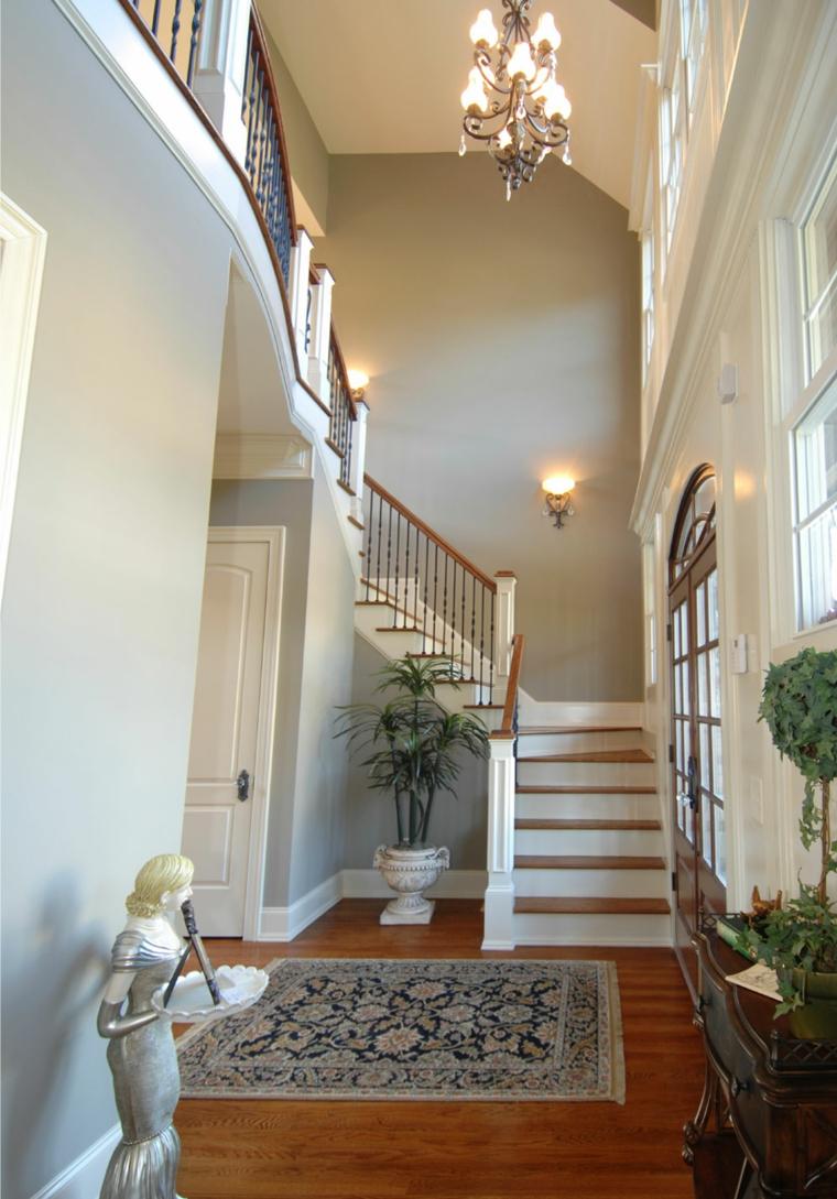 lovely light gray hallway