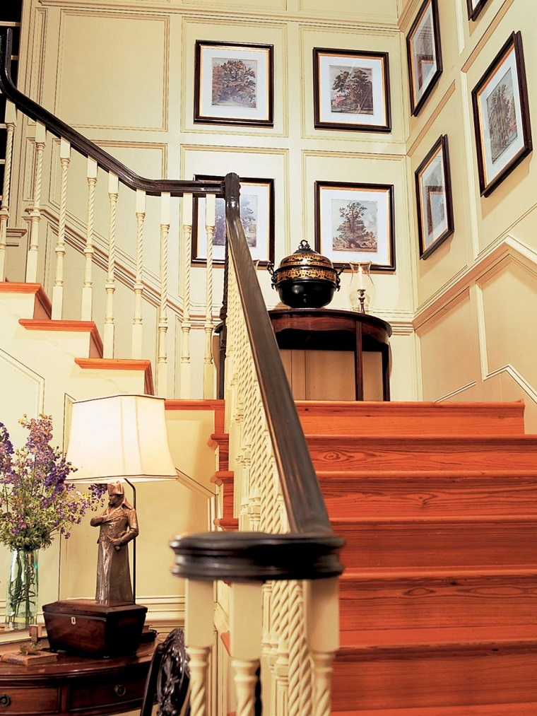 decorate with pictures walls staircase modern house ideas