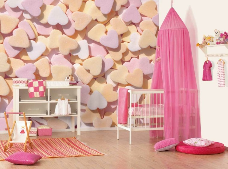 bedroom baby hearts quilted 3d