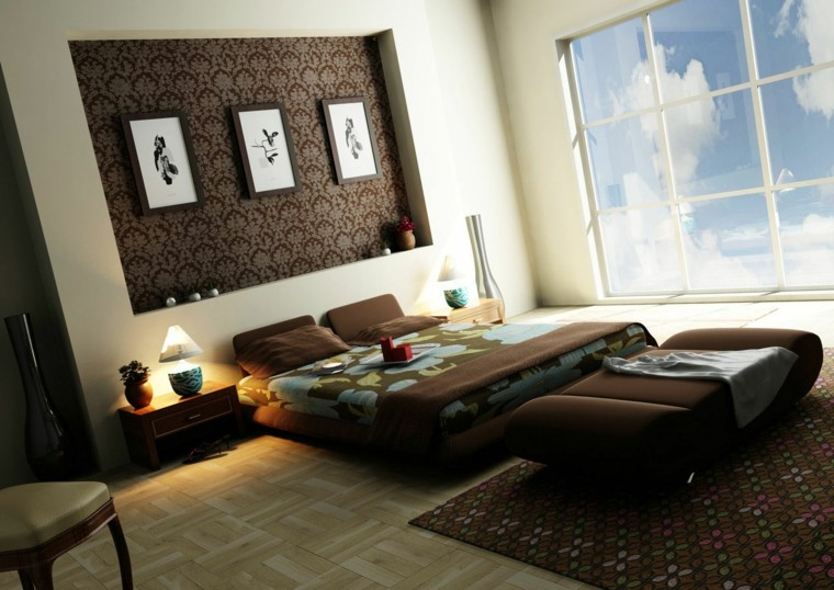 bedroom decoration paper wall brown