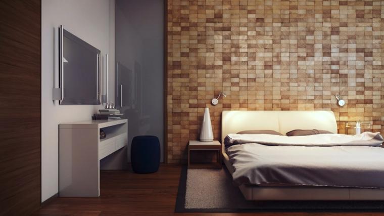 wall laminate headboard wood blocks