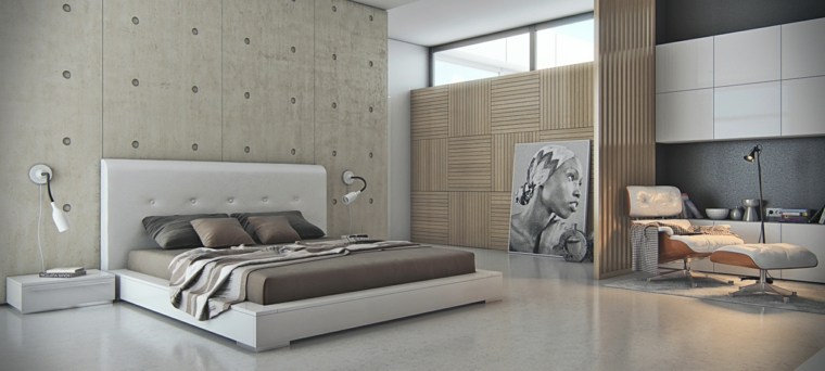 wall concrete headboard gray color