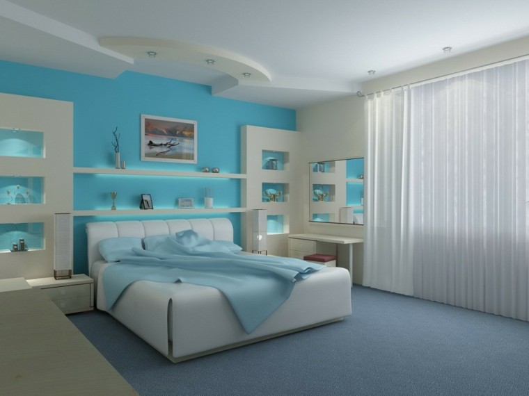 bedroom design celestial wall