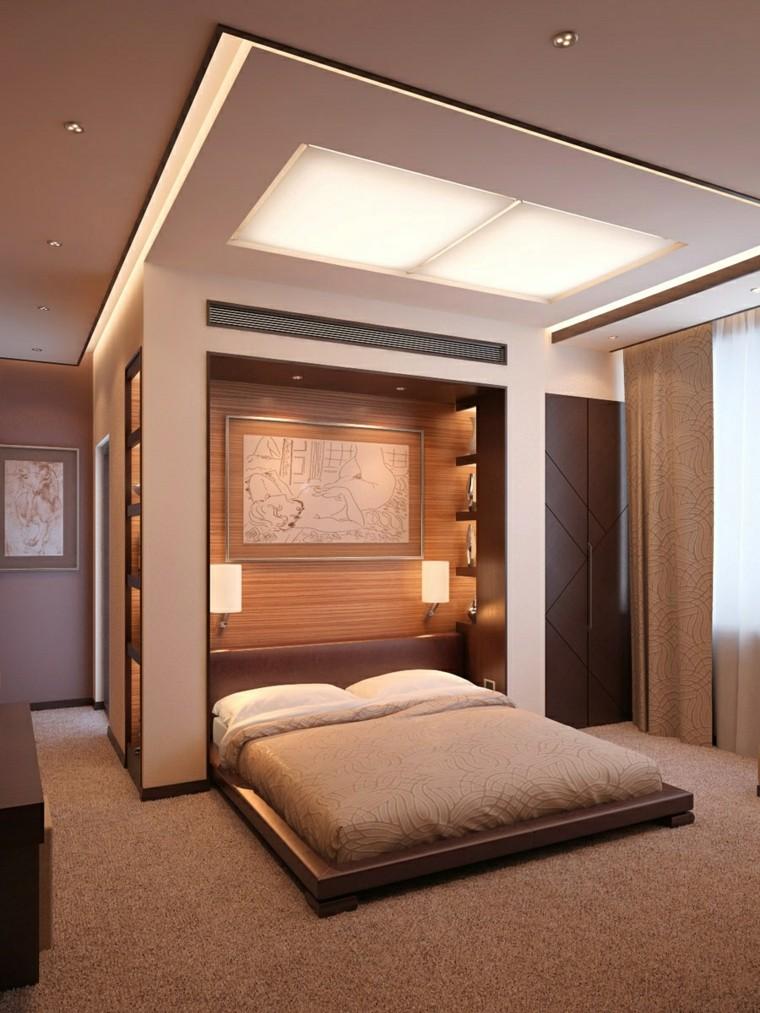 wall headboard wood bed floor