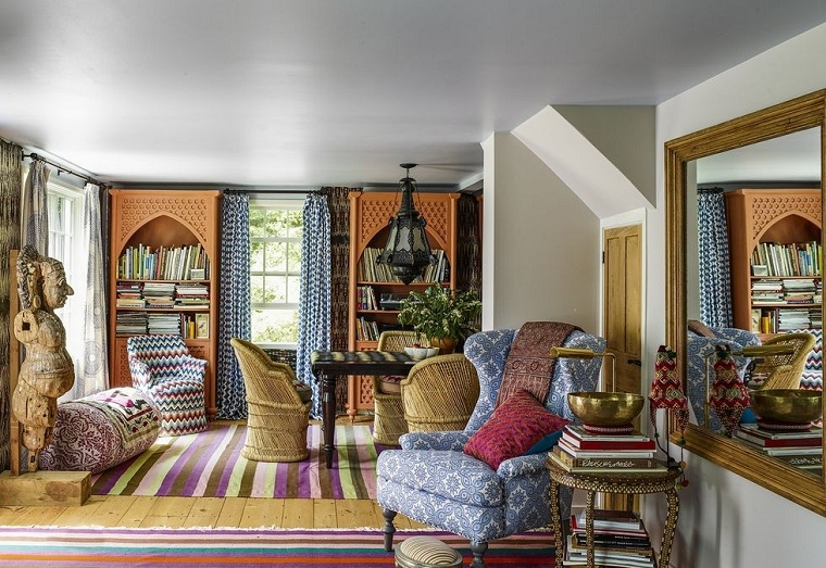 Bohemian style in the lounge
