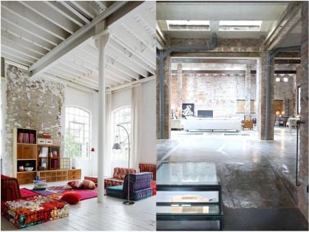 Industrial vintage decoration: structures
