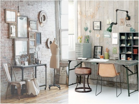 Industrial vintage decoration: passion for the past