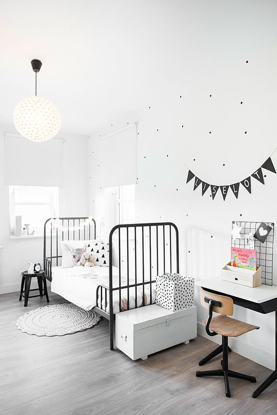 Children's rooms in white