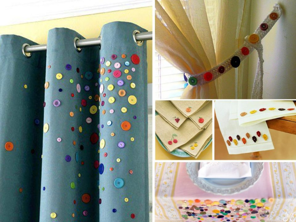 how to make curtains with buttons