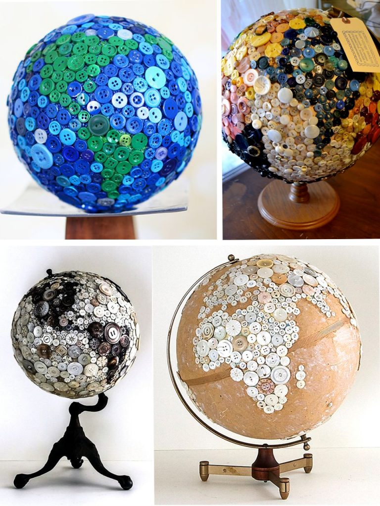 globe with buttons