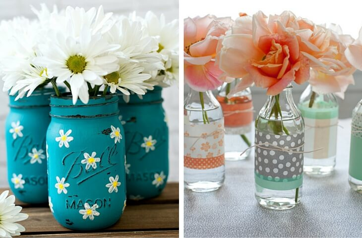 Vases with jars