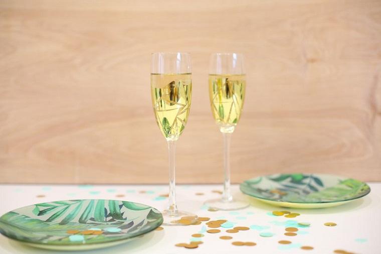 diy gifts -copas-champan-oro