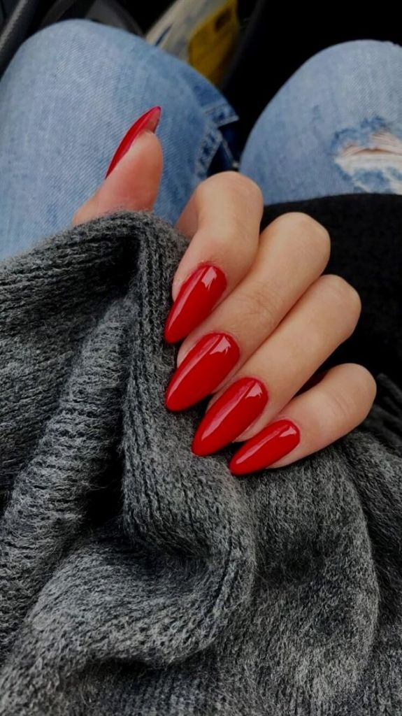 Creative Red Acrylic Nail Designs