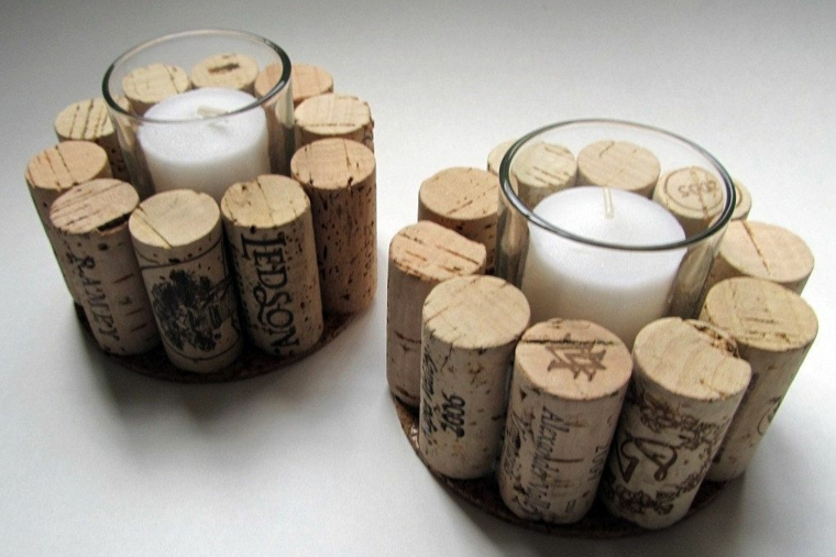 Cork DIY candle holder