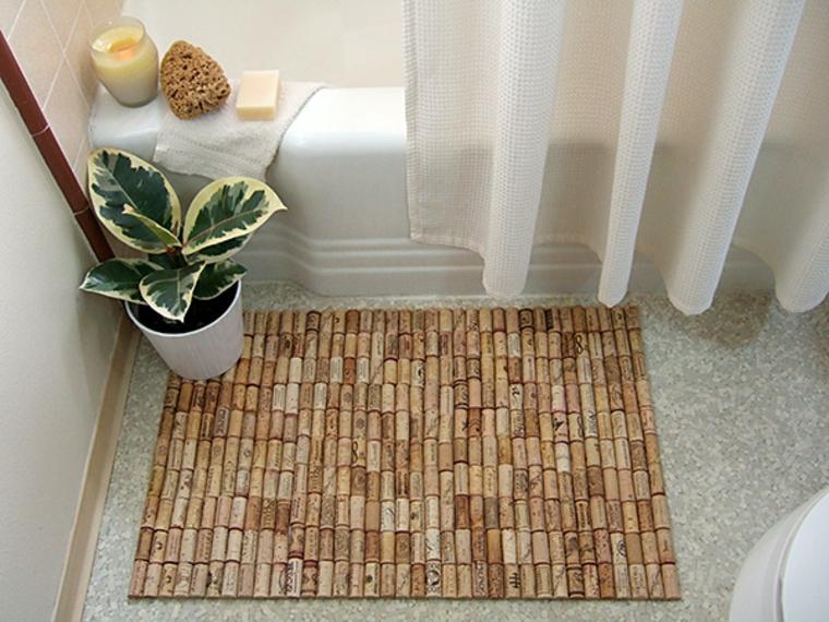 A wine cork bath mat