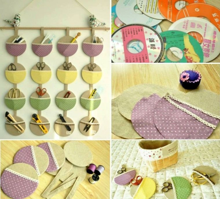 easy crafts to make shelf discs cardboard fabric colors