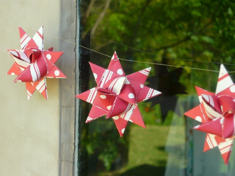 easy crafts to make stars red cartuluina design pendants