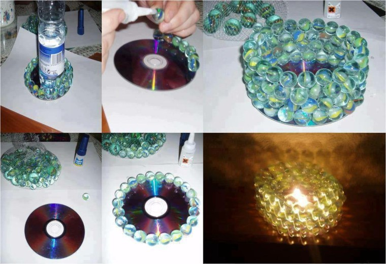 original design disco marbles candle