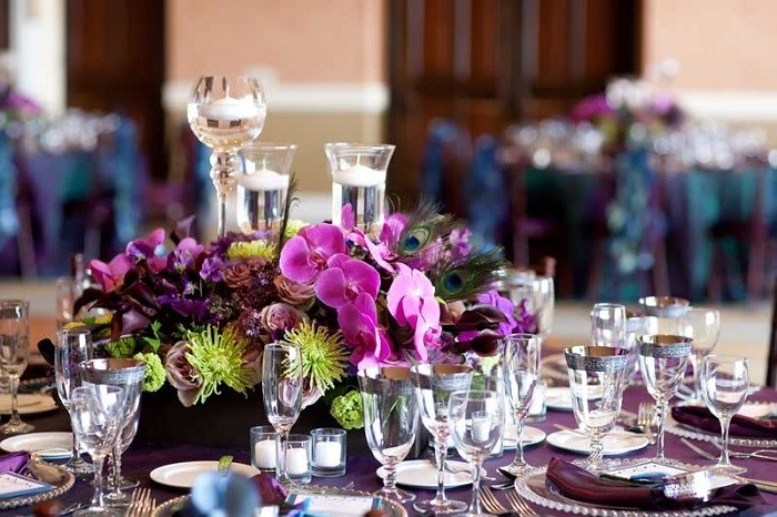 centerpieces table precious weddings candles water ideas