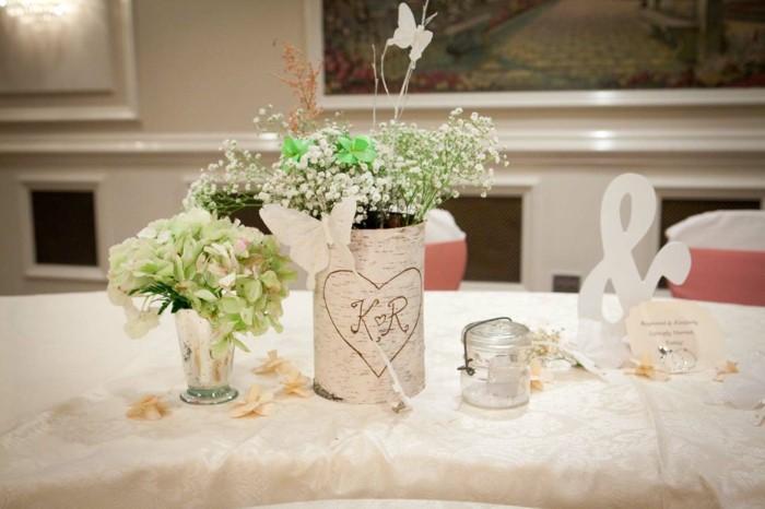 centers table weddings wood flowers ideas