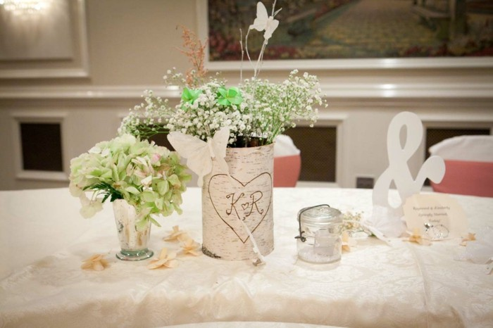 centers table weddings wood flowers ideas