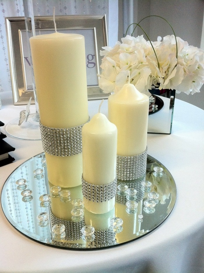 centers table weddings candles glasses ideas