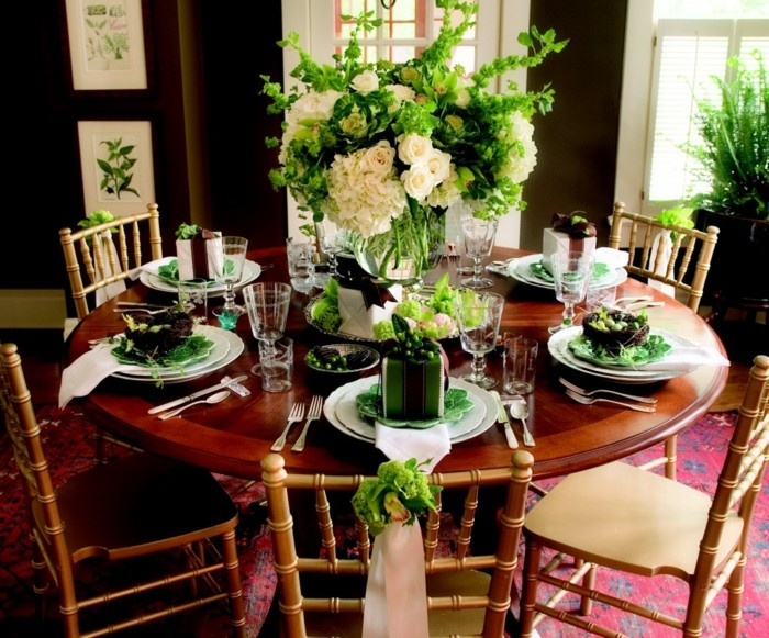 center tables weddings green roses ideas