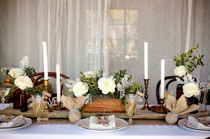 centers table weddings rustic design ideas