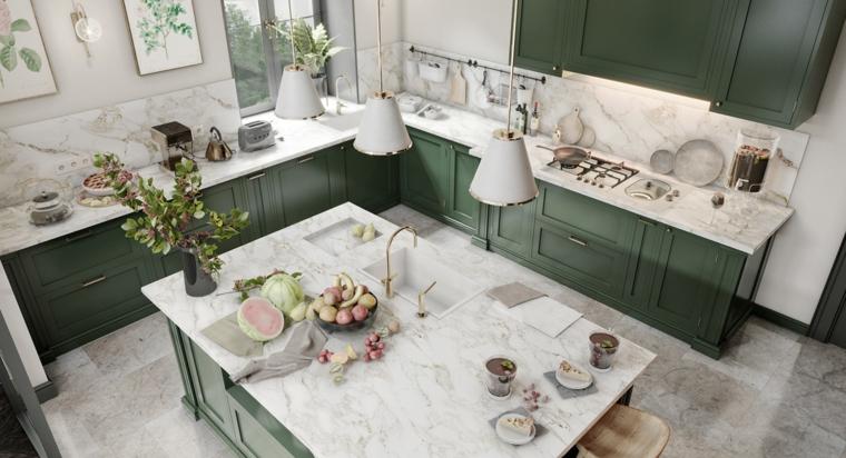 kitchen-wide-furniture-green-marble