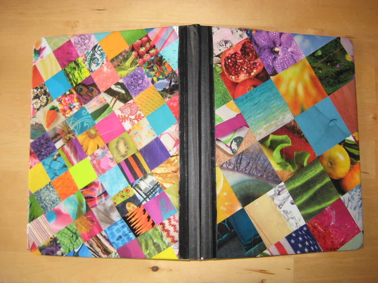 patchwork decorated notebooks