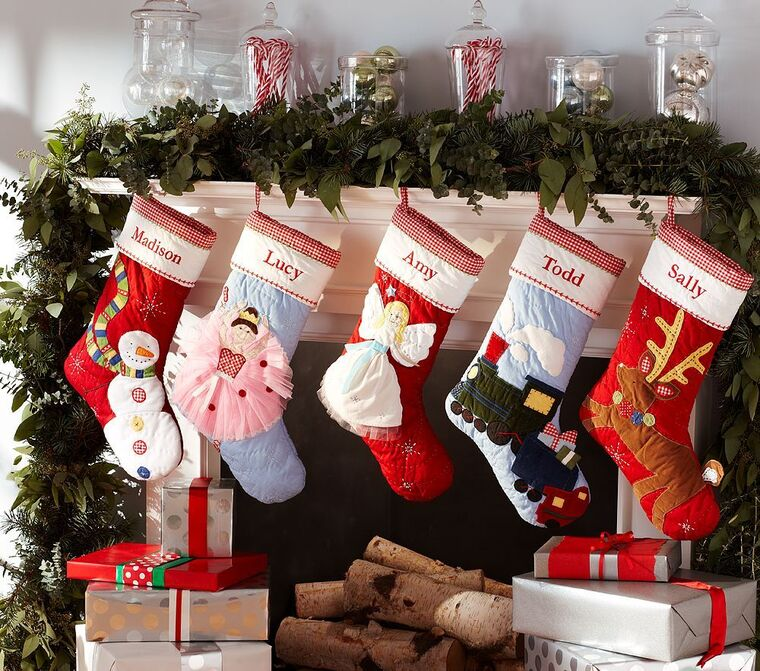 colorful Christmas socks