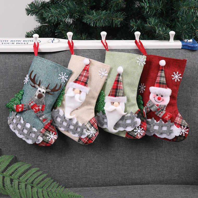 Christmas socks sofa