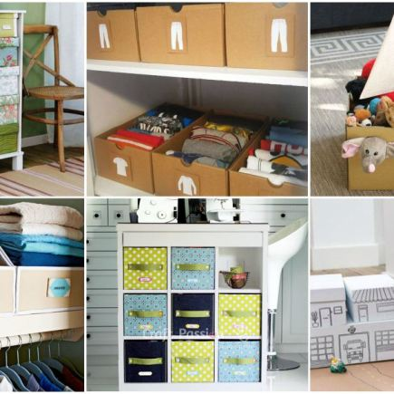 12 Crafts to organize with cardboard boxes