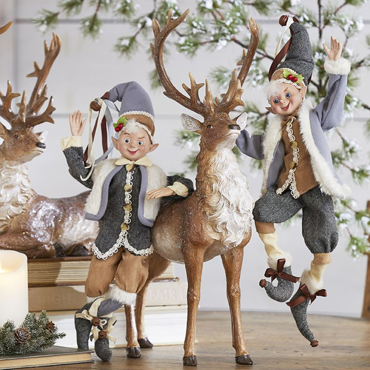 reindeer christmas elves